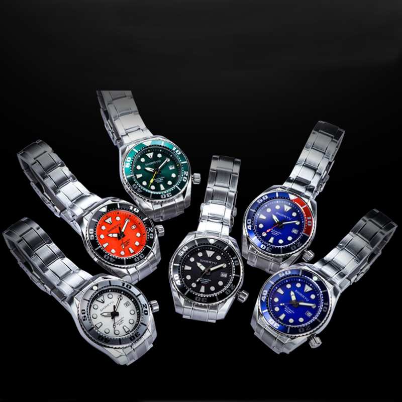 Men Tuna SBDC031/SZSC Automatic Watches NH35 Movement 200m Water Resistance sapphire Fashion Stainless Steel Diving Wrist Watch
