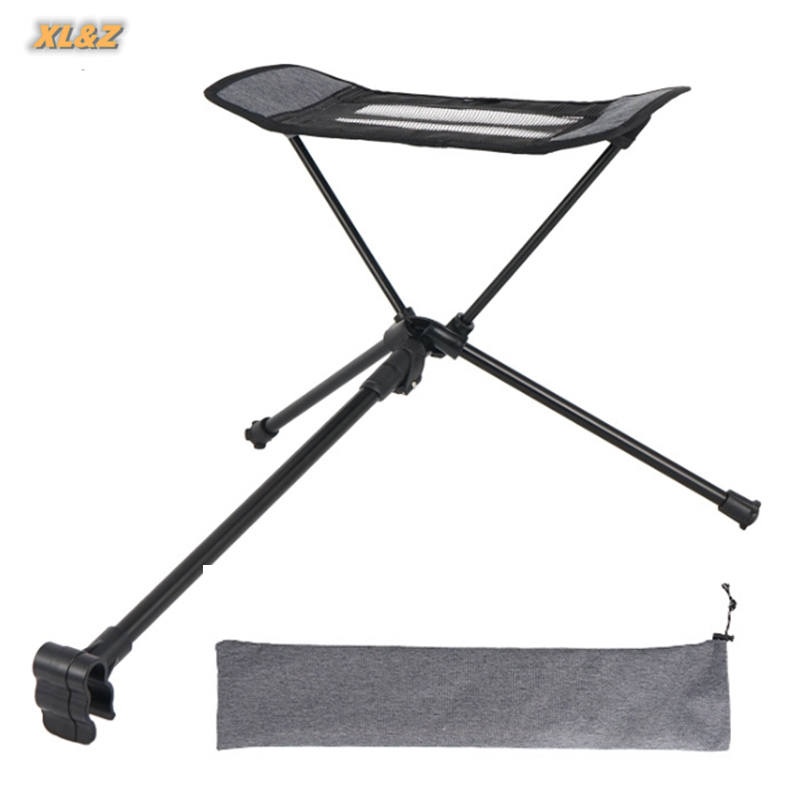 Leg-Stool Extended Footrest Recliner Folding Chair Outdoor Portable with Can-Be-Used