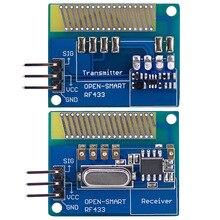 안테나가있는 장거리 433 MHz RF 무선 송수신기 키트 Arduino 용 대형 전력 433 MHz 송신기 수신기 모듈 LORA 키트