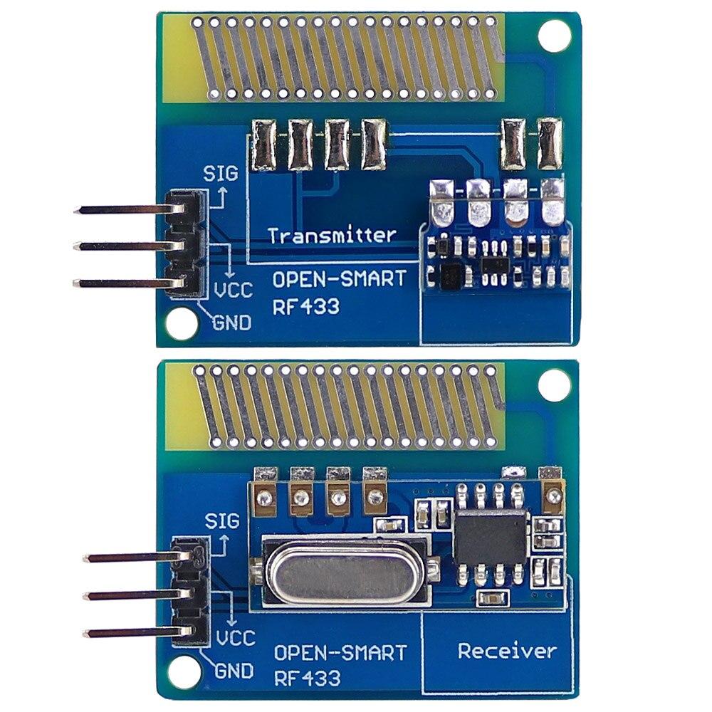 Longa distância 433 mhz rf kit transceptor sem fio com antena grande potência 433 mhz transmissor módulo receptor lora kit para arduino