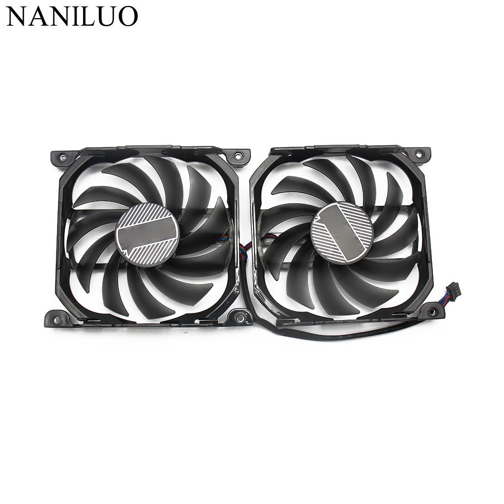 Image 2 - 2pcs/set GTX1080TI 1080 X2 GPU VGA Card Cooler Fan For INNO3D  GEFORCE GTX 1080 GTX1080 TI X2 Graphics As ReplacementFans