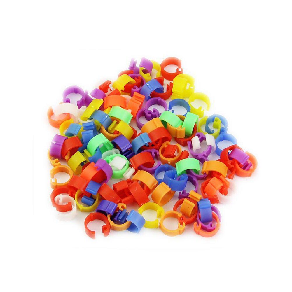 100pcs Accessories Bird Supplies Durable Practical Home Plastic Garden Random Color Universal 8mm  Ring