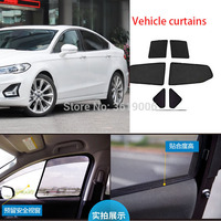 6 pçs high-end personalizado para ford mondeo 13-19 tipo de cartão magnético cortina de carro sun sombra janela do carro estilo do carro