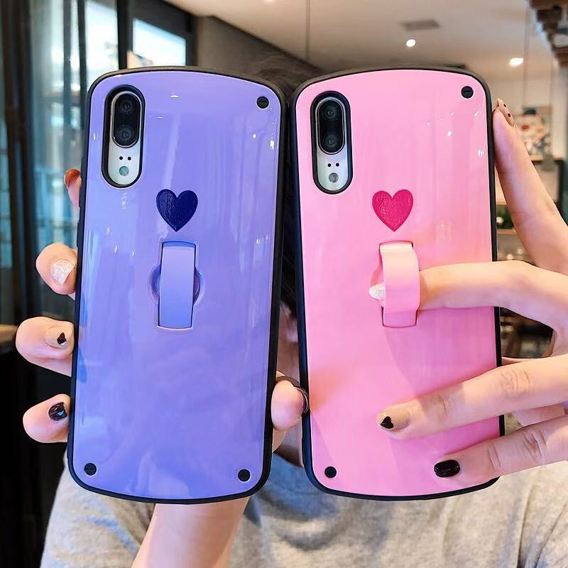 Luxury Support Cover For Huawei P20 pro P30 phone case Cases For Hua wei Mate20 Pro Silicone Soft TPU little Love Heart Pattern(China)