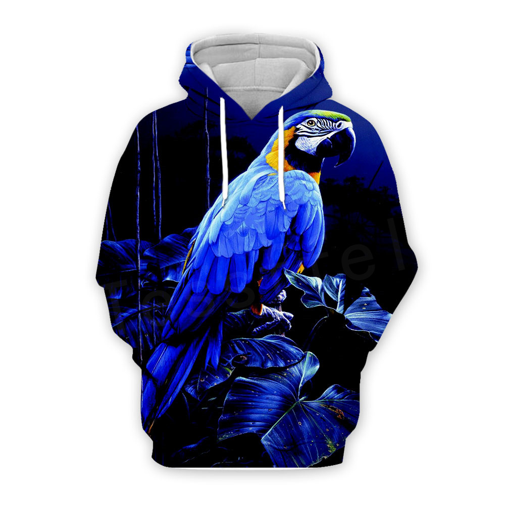 Tessffel <font><b>Animal</b></font> Parrot Art colorful <font><b>Unisex</b></font> Tracksuit casual new fashion MenWomen <font><b>3D</b></font> Print Sweatshirts/<font><b>Hoodie</b></font>/Jacket s-13 image