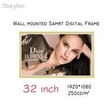"Настенный 32 ""ips woodiness photo lcd digital signage android"