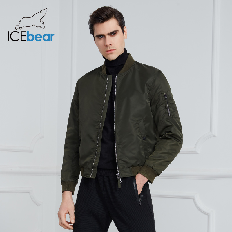 ICEbear 2020 New spring men's short jacket fashion flight jacket men's jacket high-quality brand jacket MWC20706D
