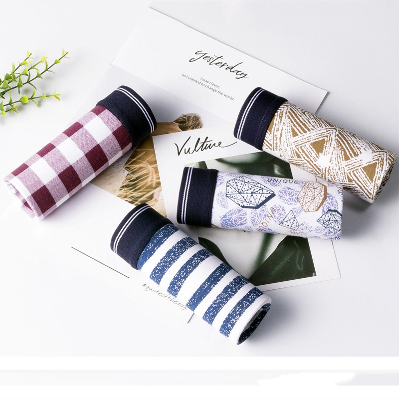 Panties Boxer-Shorts Men's Underwear Print Modal Striped Cartoon Fashion for Male Tide