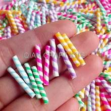 500 шт Поддельные радужные конфетные палочки/Цветные соломенные