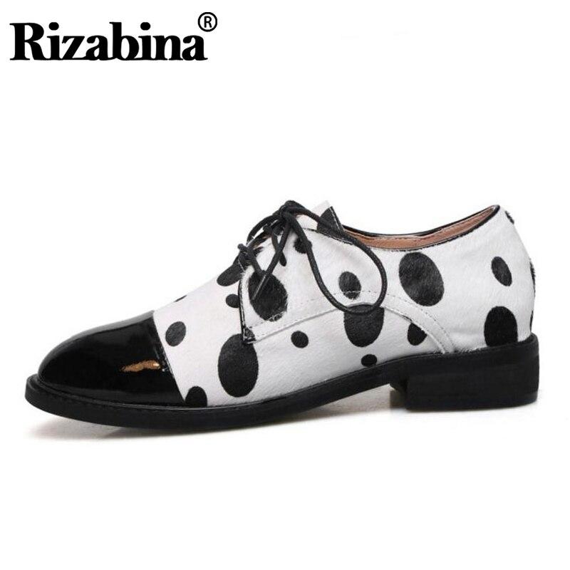 RIZABINA vrai cuir femmes pompes croix sangle mixte couleur chaussures femmes bureau robe dame rue rétro chaussures taille 33-43