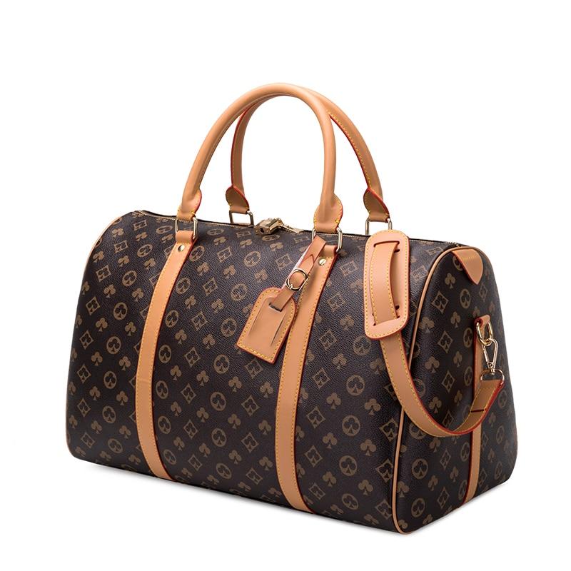 Fashion Waterproof Travel Bags Men/Women Fitness Handbag Leather Shoulder Bag Business Large Travel Tote Luggage Bag Male/Female