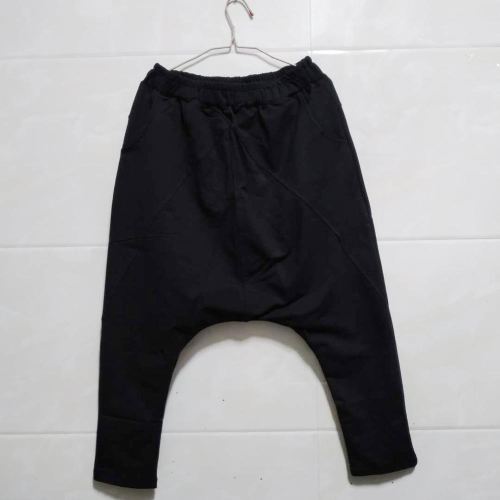 Image 3 - Fashion Black Gray Harem Pants Men Hip Hop Streetwear Baggy Rock  Mens Trousers Pants Cotton Stretch Casual Joggers Pants Malemens harem  pantspants stylestyle pant