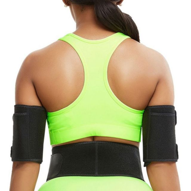 Women Compression Slimming Shaper Slimming Arm Belt Rubber Sweat Yoga Sports Gloves Thin Arms Slimming Arms 5