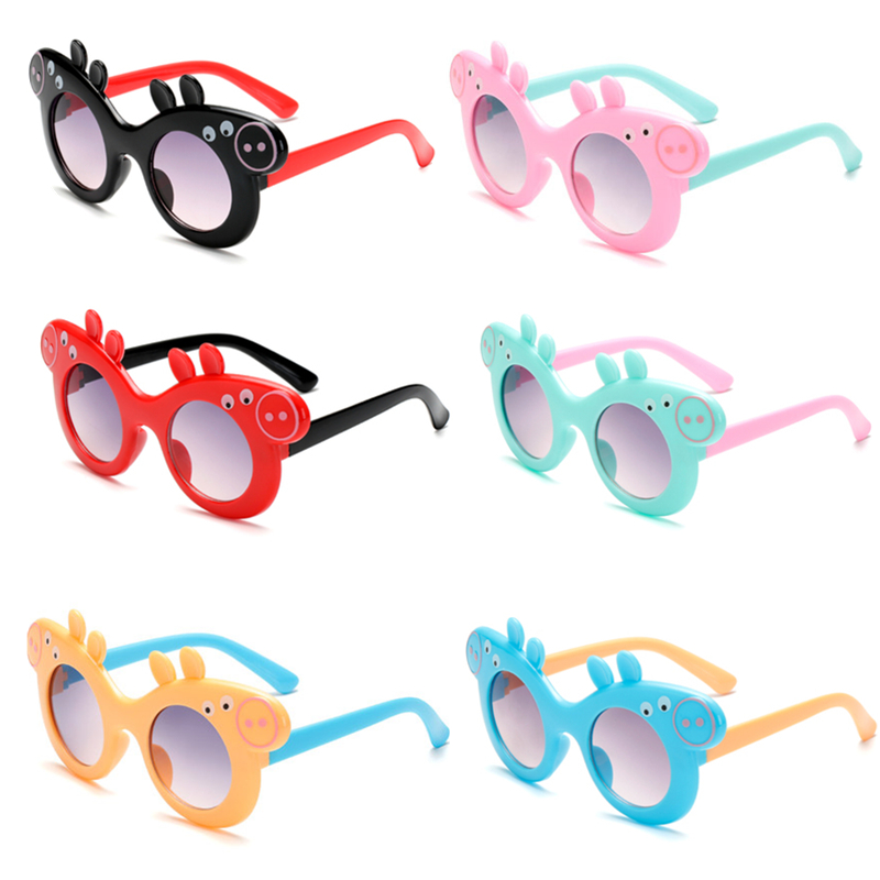 Peppa Pig Girl Sunglasses HD Lens Anime Characters Page And George Action Figure Model Children's Sunglasses Children's Gifts