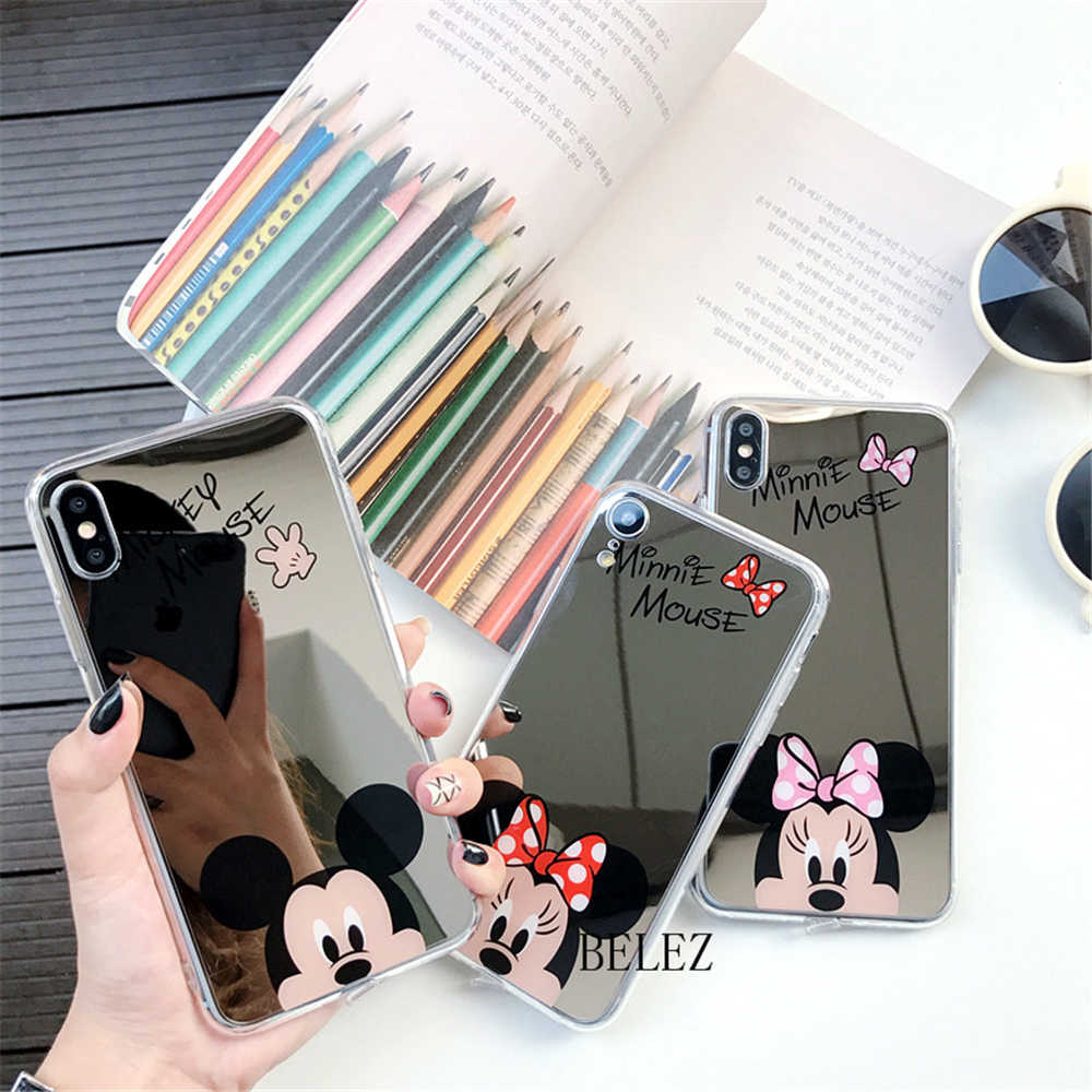 Mickey Mirror phone cases for iphone 11 Pro MAX case cartoon for iphone xr xs max 7 8 6 s plus 5 5s Minnie soft cover cute capa