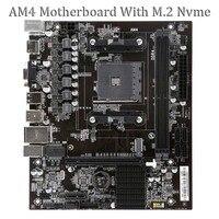 Motheroard A320V AM4 Dual channel DDR4 Memory 16G USB 3.0 SATA 3.0 Disk array For Desktop AMD AM4 Mainboard With M.2 NVMe