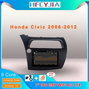 8 Core Android 10 System Car Radio For Honda CIVIC 2006-2012 WIFI 4G OBD DVR 4+64G IPS DSP Auto Head Unit GPS Navi Multimedia