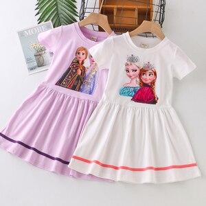 Vgiee meninas roupas de verão congelados 2 vestido anna elsa menina bebê traje 3 a 8 anos de idade crianças vestidos de festa aniversário cc1084