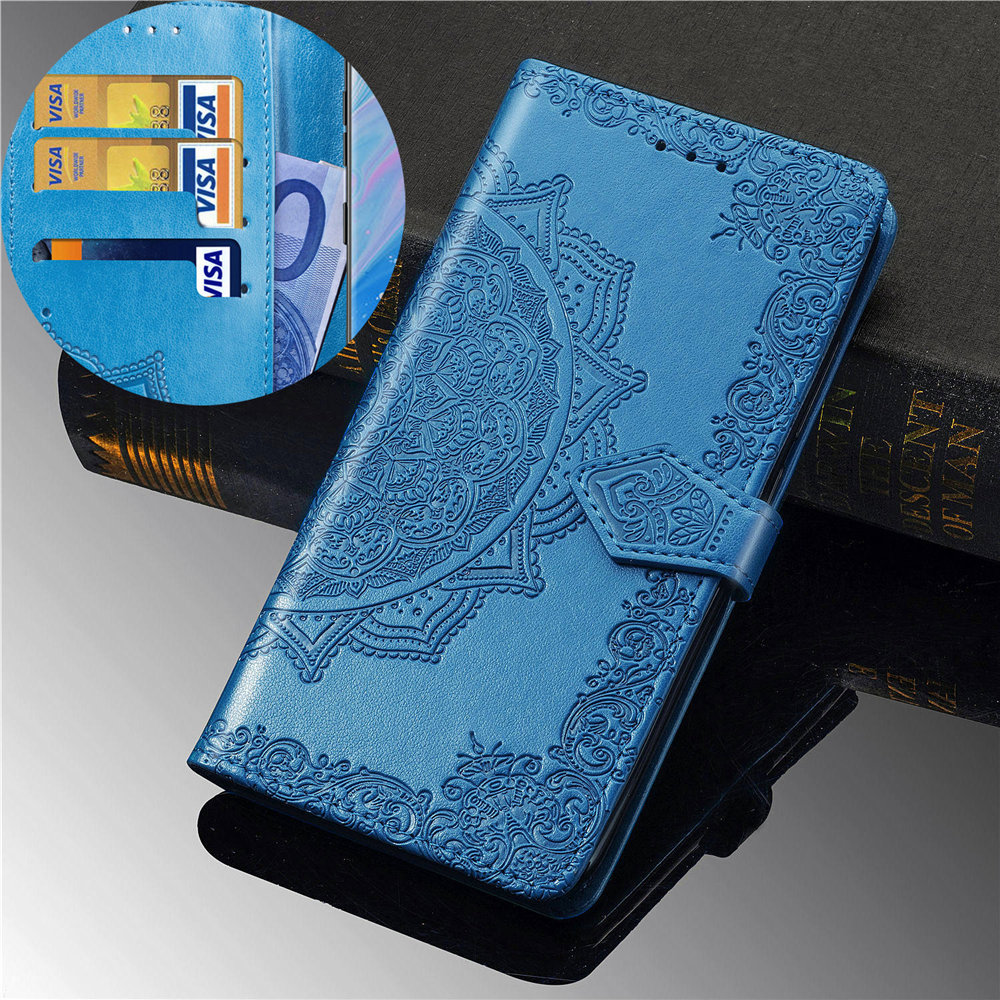 note 10 case on for samsung galaxy note 8 9 10 plus 5g Case Flip Leather 3D Mandala Flower Case for Note 10 5G Cases Cover Coque