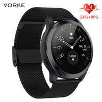 Vorke VQ7 EKG + PPG Smart Uhr IP68 Wasserdicht Männer Smart Uhr Herz Rate Monitor Fitness Tracker Multi-Sport smart Uhr PK N58