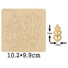 Женская заколка для волос ручная работа вырезанная деревянная