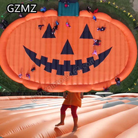 MZ sea shipping to sea port halloween inflatable pumpkin jump pad, commercial durable inflatable bouncy playground airmattress