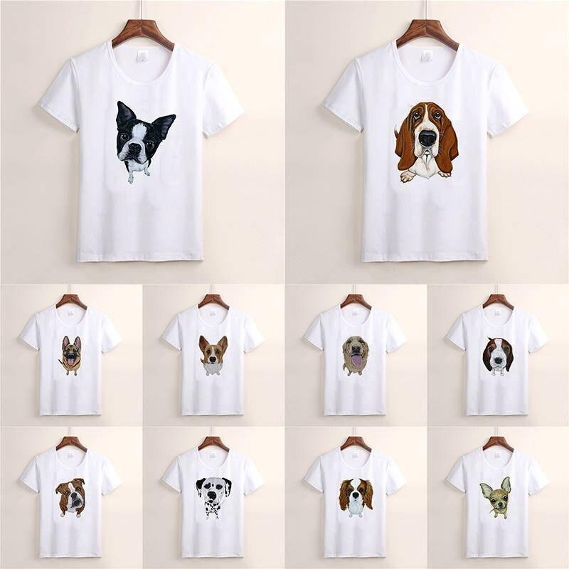 Dog PatternT-shirt Plus Size Women Printed Long Sleeve Shirts Loose Shirt Femme Top Camiseta Mujer Women T Shirt TX101