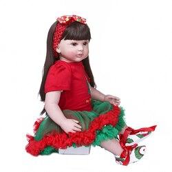 NPK оригинальный 60 см muñeca bebé niña bebé reborn в стиле «Принцесса» с утолщённой меховой опушкой, хороший подарок высокое качество suave tacto real