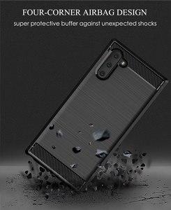 Image 5 - Silikon Telefon Fall Für Samsung Galaxy Note 10 Pro Weichen Carbon Zurück Abdeckung Stoßstange galaxi Note10 Plus 10Pro Note10Pro 10 Plus
