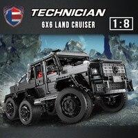 LE J901 3300PCS Technic Car Series Compatible MOC 2425 G63AMG 6X6 LAND CRUISER Set Model Building Blocks Bricks Kids Cars Toys
