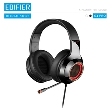 EDIFIER G4 Pro USB 게임용 헤드셋, 가상 7.1 서라운드 사운드 RGB 조명 매직 음성 기능 개폐식 붐 마이크