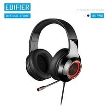 EDIFIER G4 Pro USB Gaming Headset mit Virtuelle 7,1 Surround Sound RGB Lichter Magische Stimme Funktion Versenkbare Boom Mikrofon