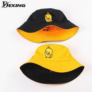 Double Sided Daisies Cow Bucket Hat men women Fashion Bob Femme Caps Summer Panama sad boys fold Sun fishing fisherman hat(China)