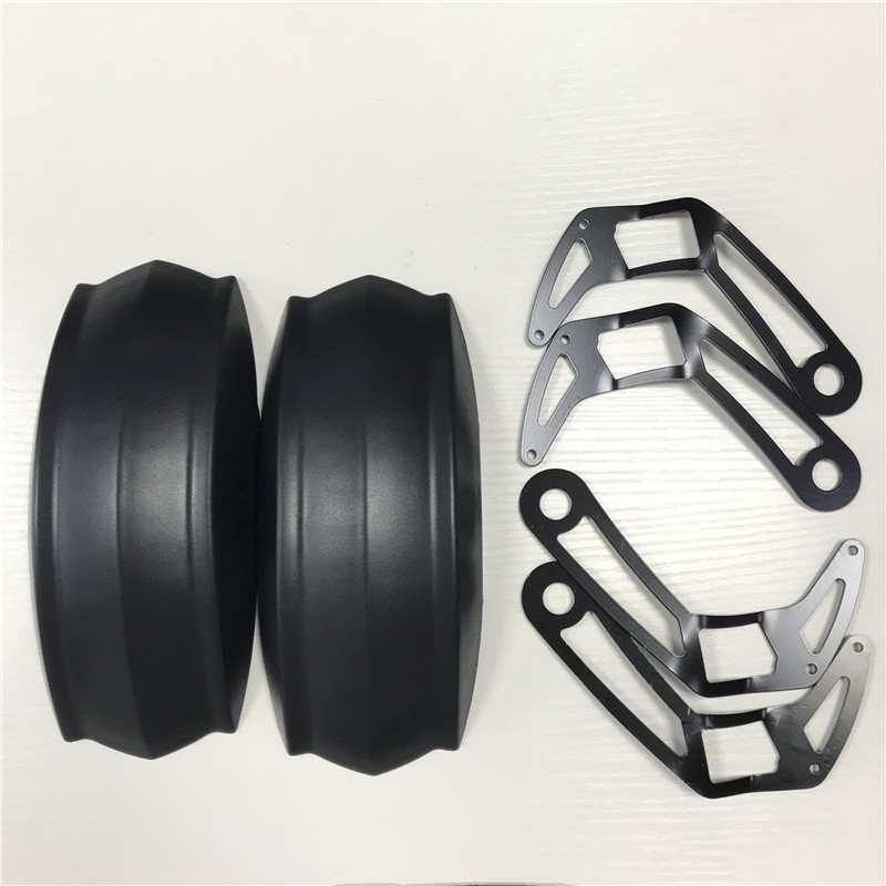 A Pair of Mudguards(Plastic and Metal Mounting Parts) For BLADE 10 Zero 10X Kickscooter Smart Electric Scooter Front Rear Fender