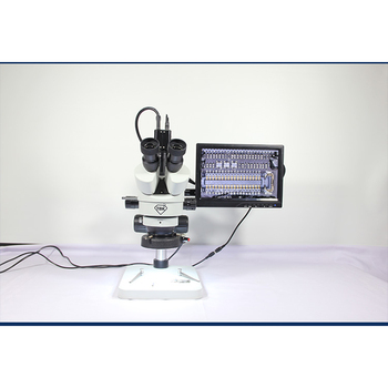 TBK 21-135X Trinocular Stereo Zoom Electronic amplification TBK-45P HD display video microscope mobile phone repair Stereoscopic trinocular stereo microscope 7 45x continuous zoom binocular usb microbial magnifying video tv tube bst x6 with display screen