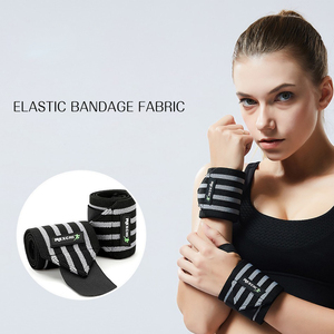 Image 3 - Gym Fitness Weightlifting Bracers Powerlifting Wristband Support Elastic Wrist Wraps Bandages Brace for Sports Safety
