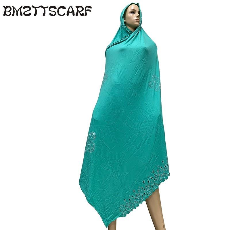 Image 4 - 100% Soft Cotton Scarf KASHKHA Scarf for African Muslim Women  Dubai Pray Big Shawls with rhinestones  BM826Womens Scarves   -