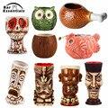 Новые Гавайские кружки Tiki, Коктейльная чашка, кружка для пива, напитков, кружка для вина, керамическая кружка Islander Tiki 450 мл