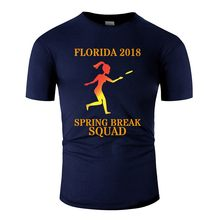 Ontwerp Lente Breken Squad Party Crew Miami Florida 2018 Mannen T-Shirt Leisure Tshirt Kleding 100% Katoen Tee Tops(China)
