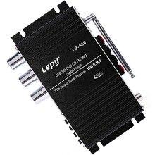 LP-A68 автомобильный усилитель 12 В HiFi USB SD FM радио/MP3 плеер стерео аудио цифровой усилитель Hi-Fi стерео аудио усилитель