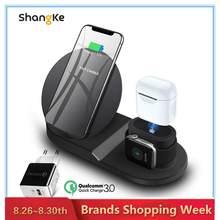 Wireless Charger Stand untuk iPhone Airpods Apple Watch biaya Dock Station Charger untuk Apple Watch Seri 4/3/2/1 Iphone X 8 X(China)