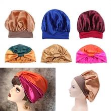 Bonnet Shower-Cap Bath-Towel Salon Hair-Dry Silk Nightcap Quick-Elastic Sleep Women Solid