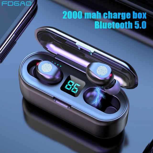 Cuffie senza fili Bluetooth 5.0 Auricolare TWS HIFI Mini In ear Sport Auricolari Impermeabili Auricolare per iOS/Android Telefoni chiamata HD