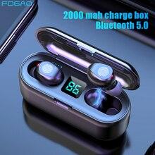 Drahtlose Kopfhörer Bluetooth 5,0 Kopfhörer TWS HIFI Mini In ear Sport Wasserdichte Ohrhörer Headset für iOS/Android Handys HD Anruf