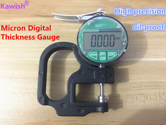 New!oil proof Micron Digital Thickness Gauge 0 12.7mm 0.001mm thickness tester meter paper film leather thickness measuring tool