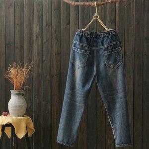 Image 4 - 2020 Mum Jeans Mujer Women Boyfriend Jeans for Woman Mom Jeans Harem Cartoon Print Pants Denim Plus SizeJeans mujer jean femme