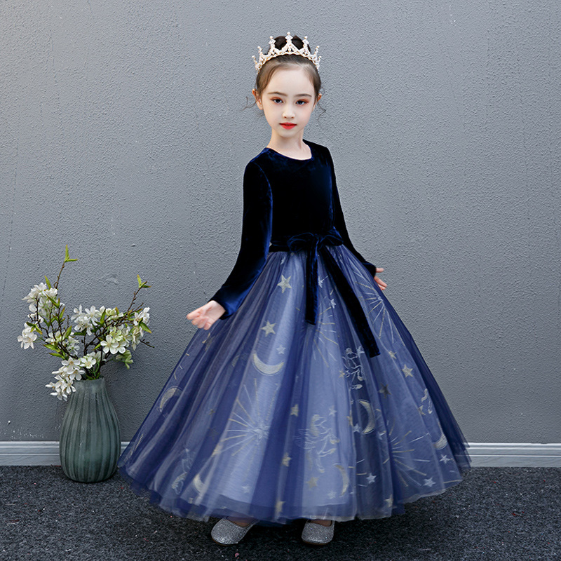 Christmas Clothes Highend Elegant Kids Dresses For Girls Party And Wedding Long Sleeve <font><b>Princess</b></font> Dresses <font><b>Toddler</b></font> Star image