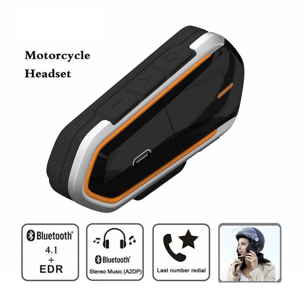 QTBE6 Couple Style Handsfree Motorcycle Helmet Intercoms Moto Wireless Bluetooth Mini Headset Interphone Waterproof Sport FM MP3