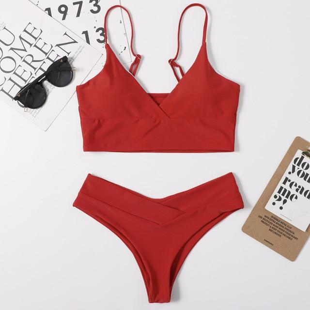 High Waist Bikini Women Swimwear Female Swimsuits Black Sexy Thong Bikinis Set Beach Wear Swimming for Women Bathing Suit
