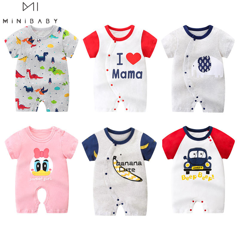 Brand Minibabies Summer Baby Clothes , New Born Baby Girl Clothes Cotton Romper Super Quality Rompers For Babies Boys Costume